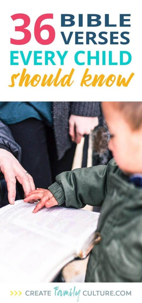 36 Bible Verses Every Kid Should Know   Christian Parenting Tips   Faith for Kids   Intentional Parenting