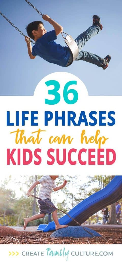 Words to Live By for Kids! | 36 Life Phrases that can help kids succeed | Growth Mindset | Intentional Parenting | Developing Character in Kids | Words of Wisdom for Children