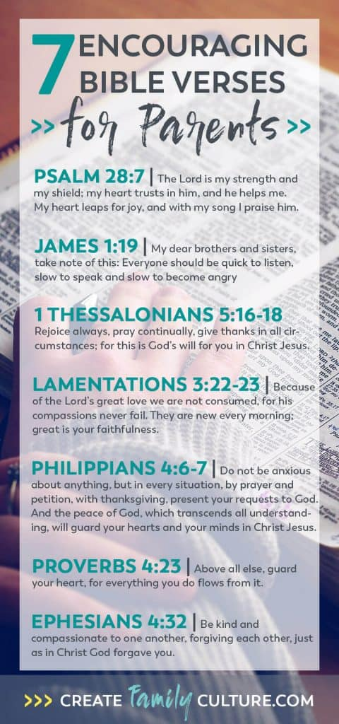 Encouraging Bible Verses for Parents | Christian Parenting | Kids | Encouragement | Intentional Parenting #christianparenting