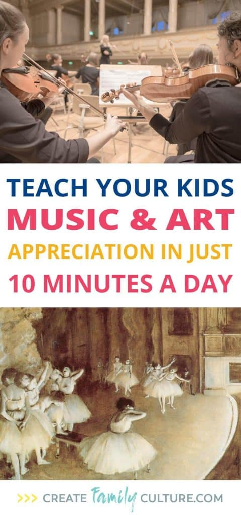 Easy Music and Art Homeschool Curriculum | How to Teach Music | How to Teach Art | Greatest Works Tour | Classical Education | Charlotte Mason Inspired #homeschoolresources #homeschooltips #musicappreciation #artappreciation #easyhomeschoolcurriculum