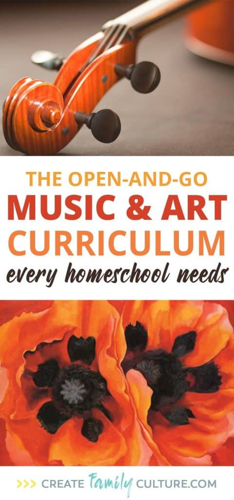 Easy, Open-and-Go Music and Art Homeschool Curriculum | How to Teach Music | How to Teach Art | Greatest Works Tour | Classical Education | Charlotte Mason Inspired | Easy Homeschool Curriculum #homeschoolresources #homeschooltips #musicappreciation #artappreciation #easyhomeschoolcurriculum
