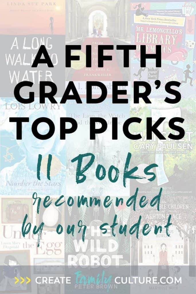 Fifth Grade Book List | Favorite Books from our Eleven Year Old | Middle Grades Book List | Elementary Reading #booklist #fifthgrade #elementary #reading #homeschoolbooks #homeschool