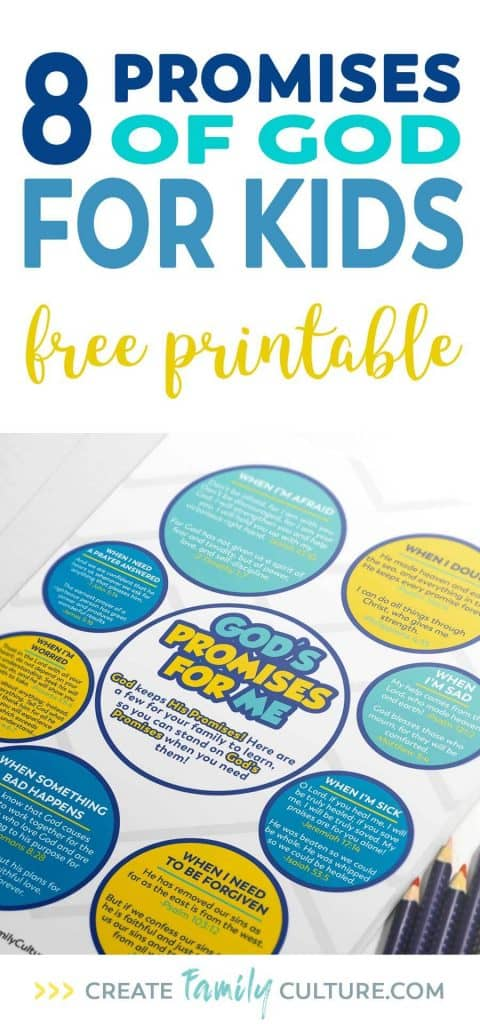 God's Promises for Kids | Free Printable | Bible Verses for Kids