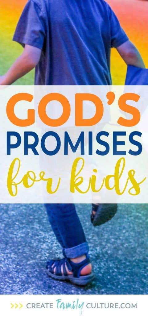 God's Promises for Kids | Bible Verses for Kids | Verses about Fear | Christian Parenting #parentingresources #freeresources #printables