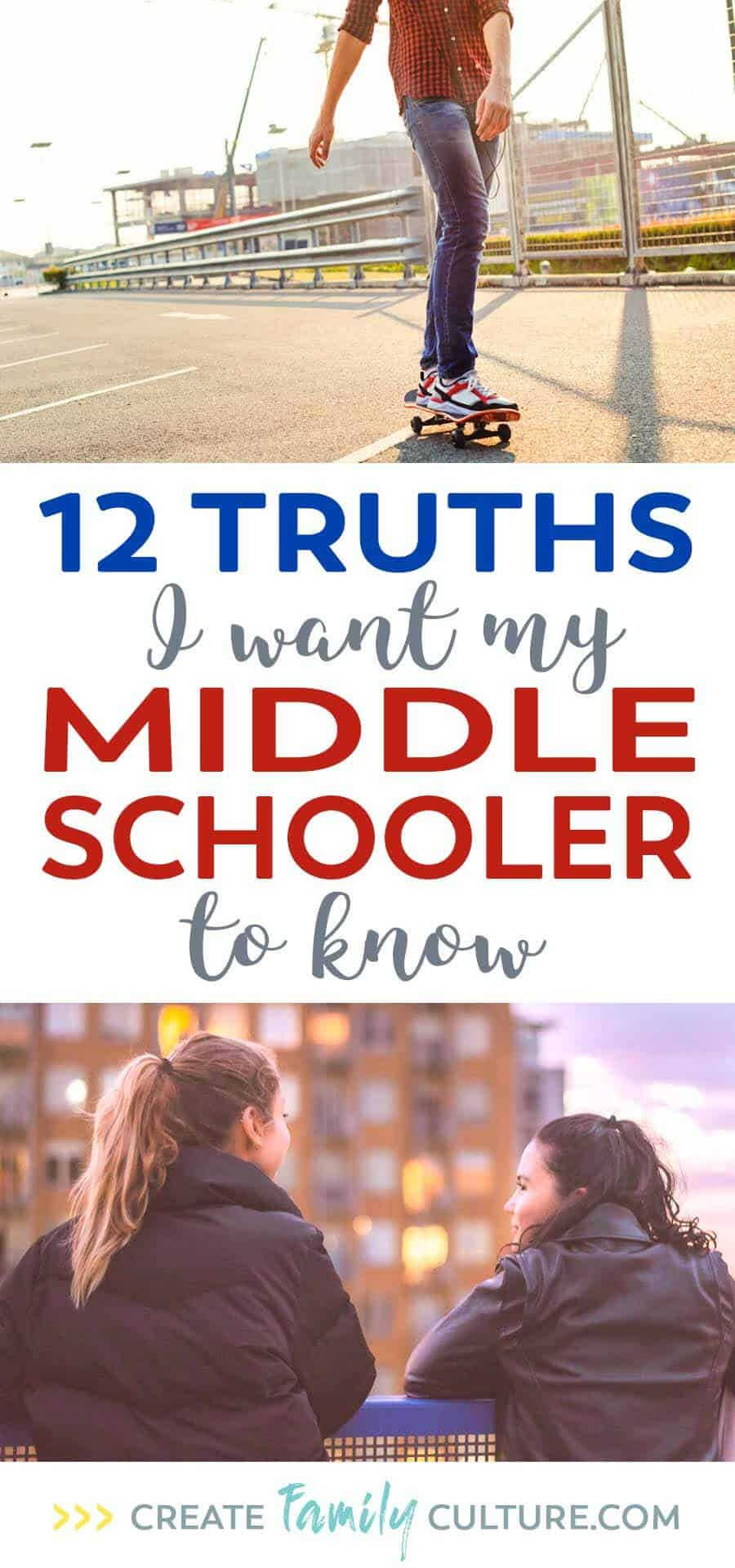 !2 Truths I Want My Middle Schooler to Know | Advice for Middle School | Parenting Tips and Tricks | Parenting Preteens | Christian Parenting Tips