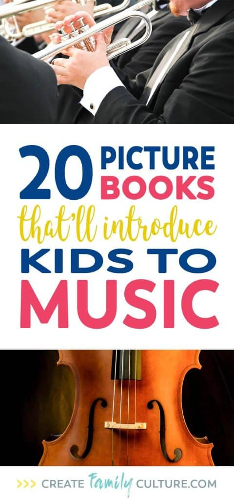 20 Kids Books About Music | Elementary Book List | Picture Books | Preschool | Music Appreciation | Music Curriculum #elementary #preschool #homeschool #picturebooks