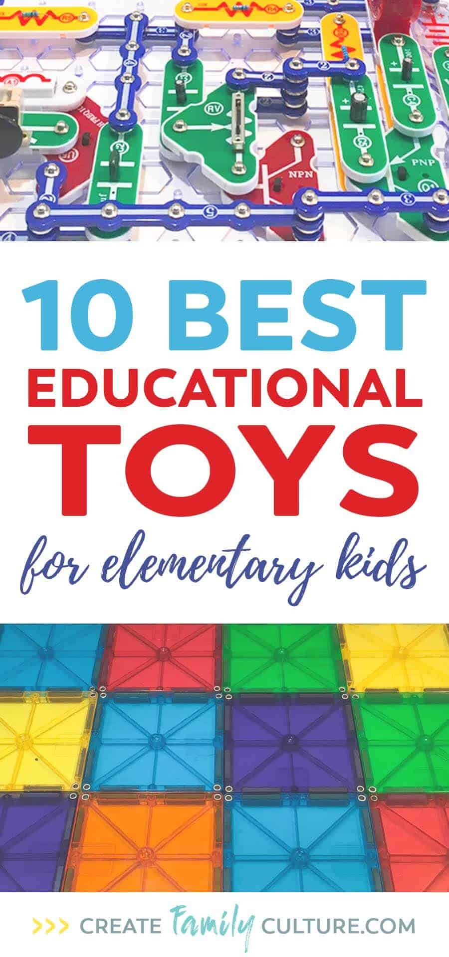 Best Educational Toys for Elementary Kids. STEM toys that won't break your budget. Learning, open-ended play, toys for homeschool. Learning activities for elementary students. Gifts for elementary kids.