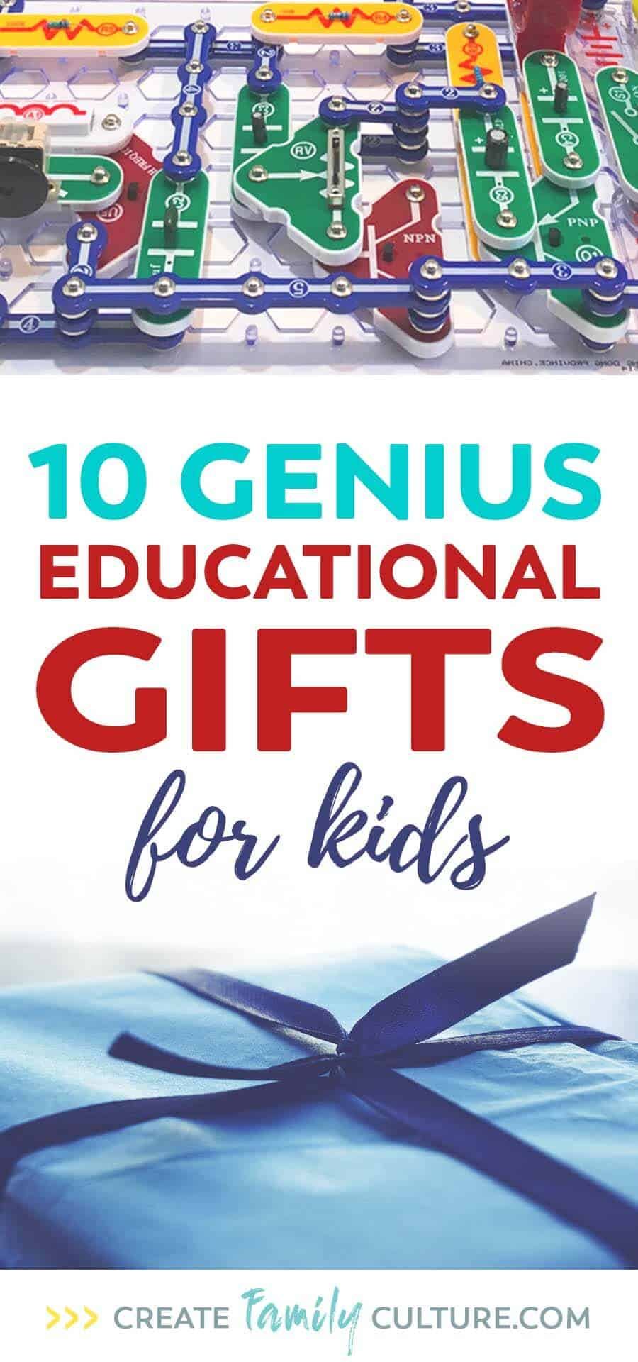 10 Genius educational gifts for kids. Learning toys for classrooms and homeschool. STEM toys and creative games, activities for elementary students.