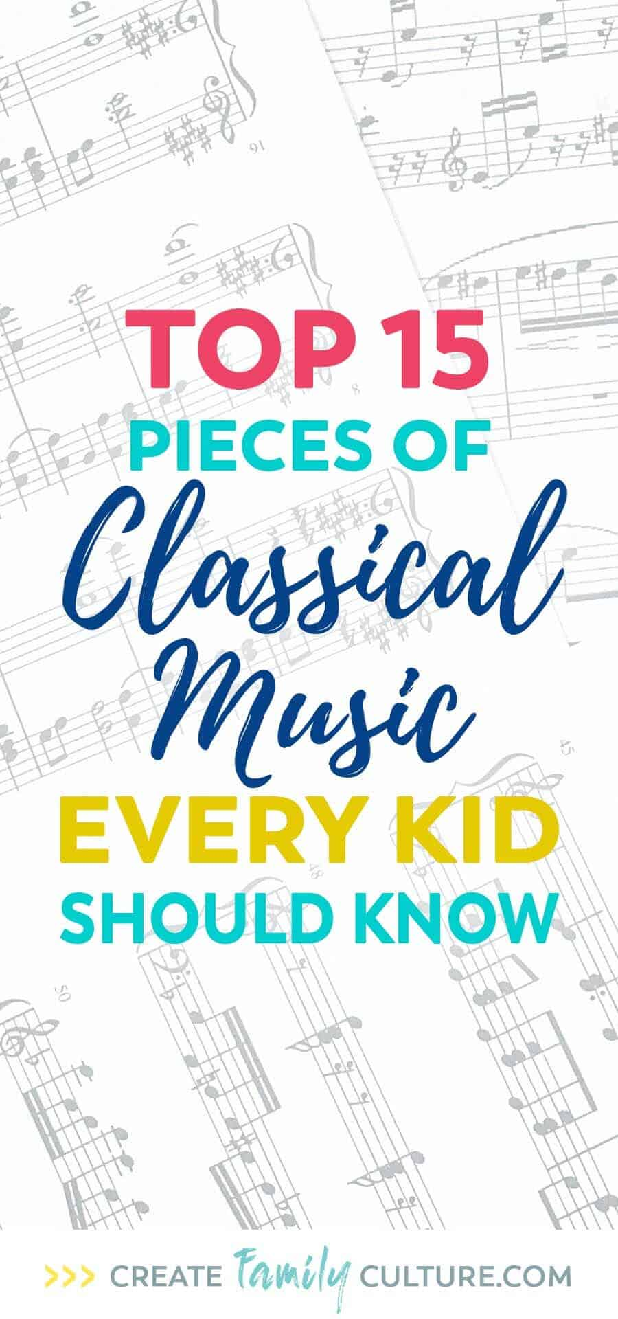 Top 15 pieces of classical music every kid should know. Classical Music for Kids | music appreciation | elementary music
